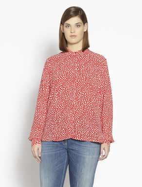 Lightweight printed crêpe shirt