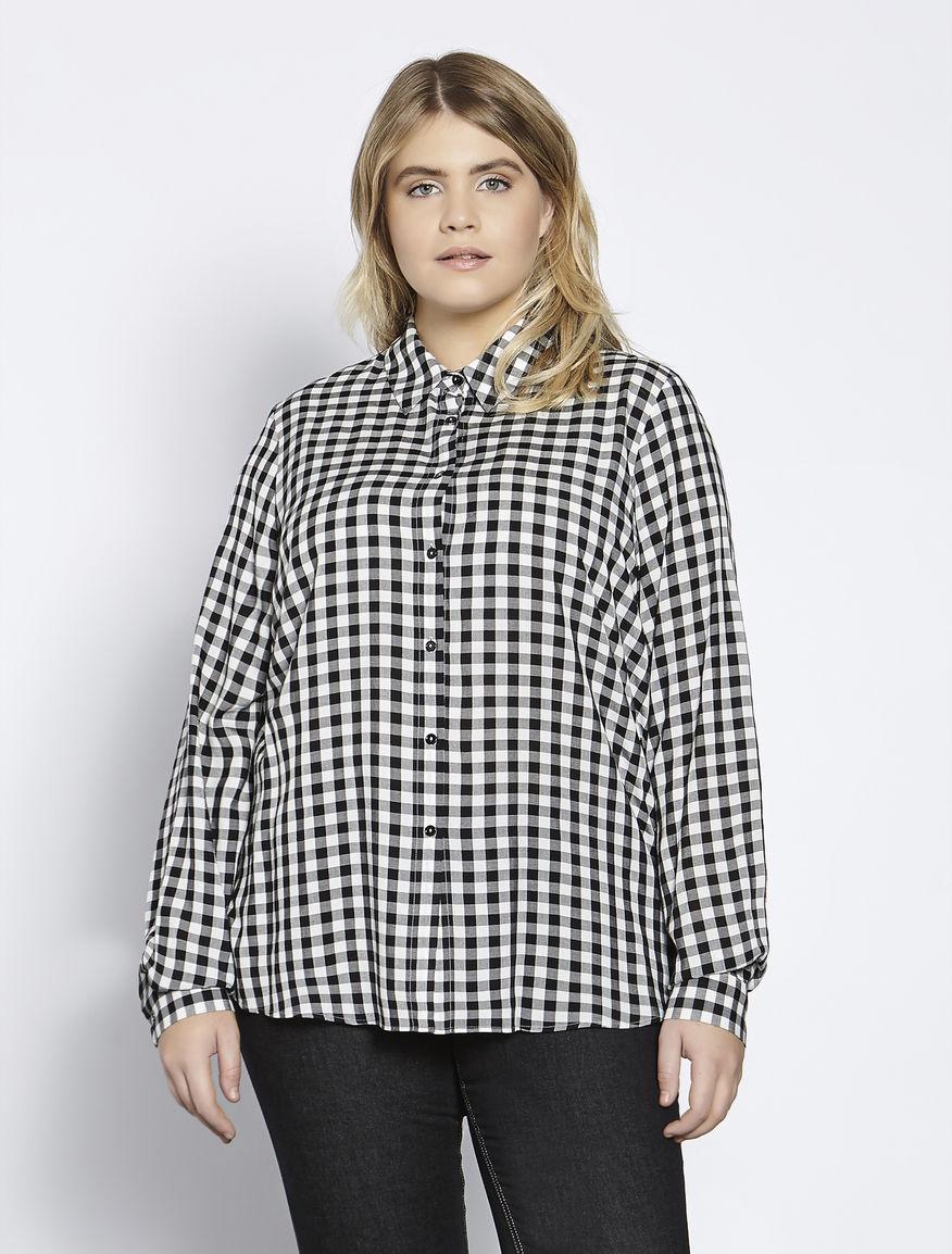 Floaty long viscose shirt