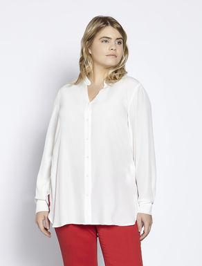 Silk blend crêpe shirt