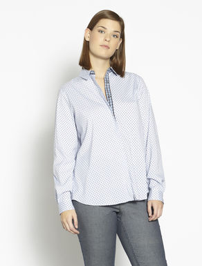 Patterned cotton and nylon shirt