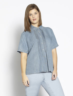 Lightweight printed tencel shirt