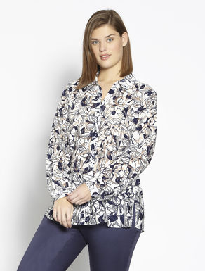Bluse aus bedrucktem Dévoré