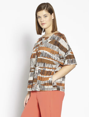 Printed cotton muslin shirt