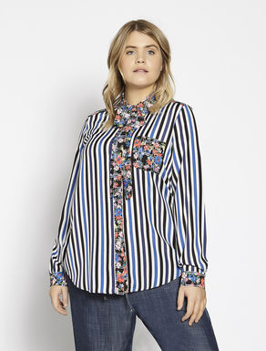Patterned crêpe de chine shirt