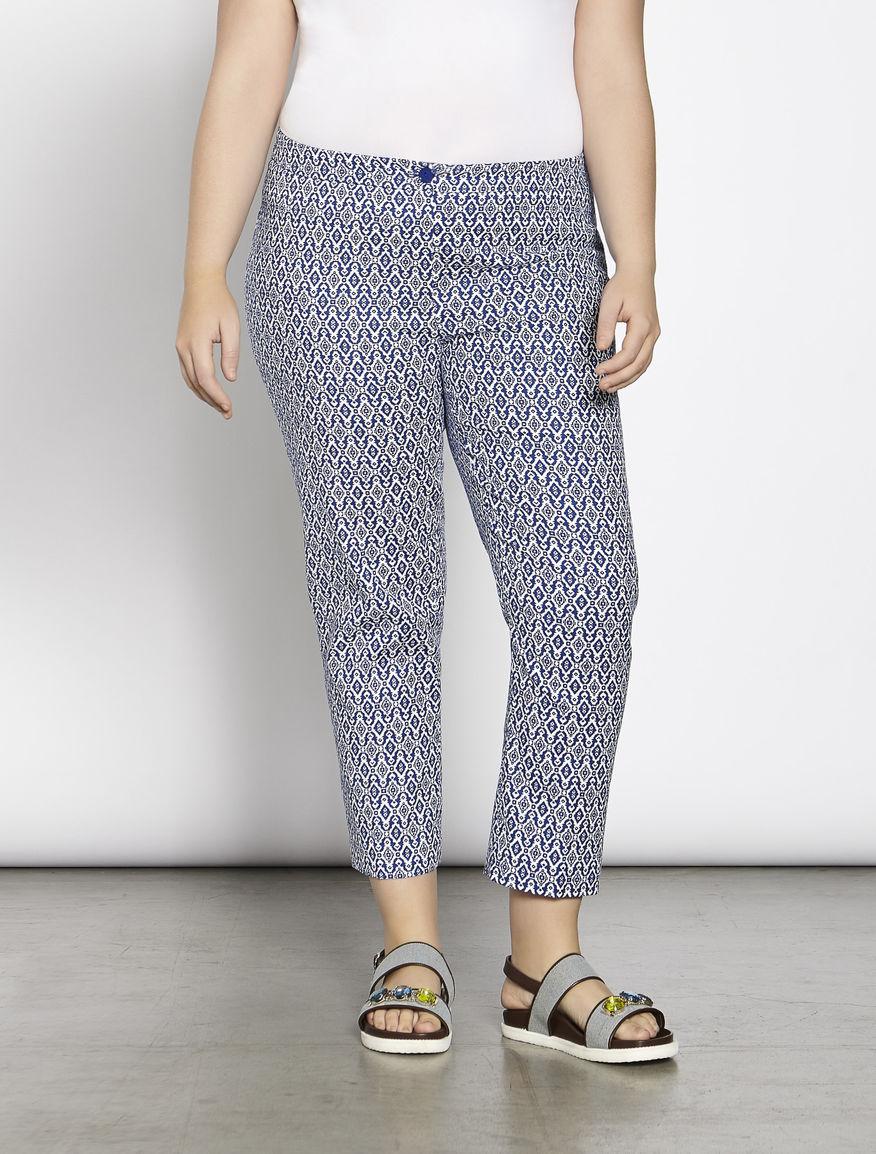 Basketweave cigarette trousers
