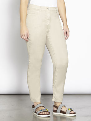 Pantalone in lino di cotone stretch