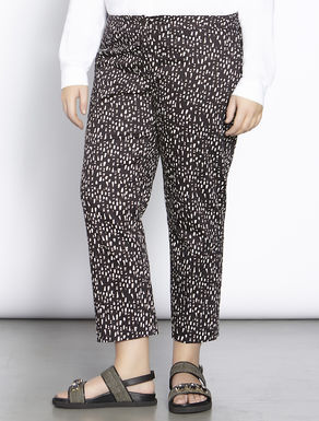 Printed satin trousers