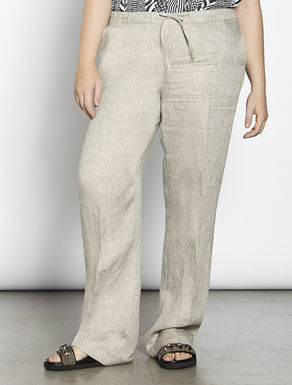 Relaxed-fit linen trousers