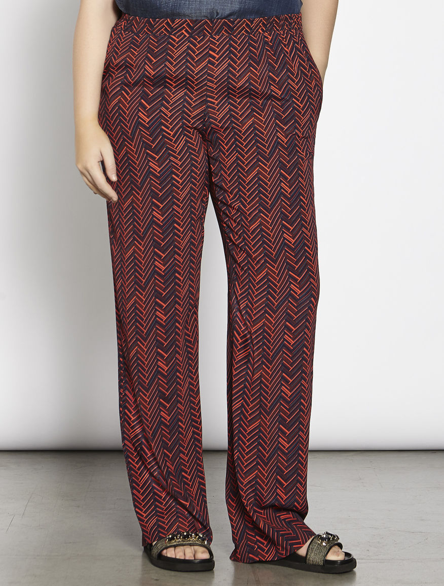 Printed Moroccan trousers