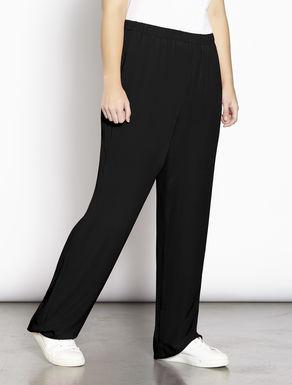 Silk blend palazzo trousers