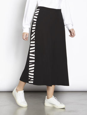 Cropped cady crêpe trousers