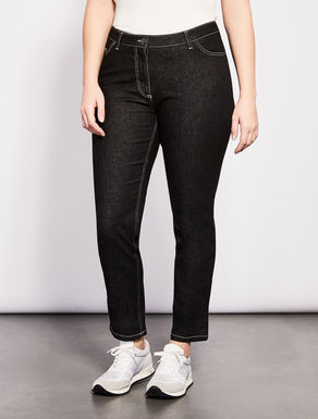 Shaping-fit denim trousers