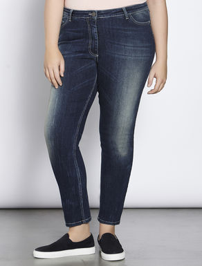 Perfect-fit blue stretch denim jeans