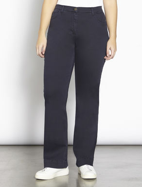 Flare fit twill trousers