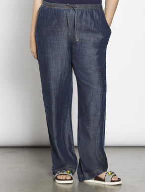 Relaxed-fit tencel denim trousers