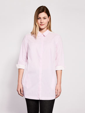Cotton and nylon shirt with lace