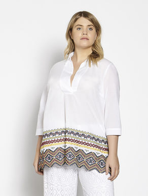 Cotton muslin tunic