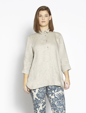Linen shirt with flower