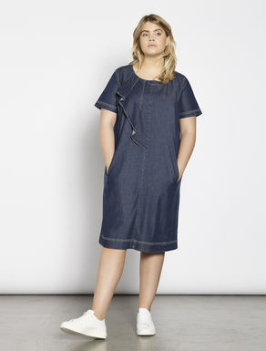 Lightweight stretch denim dress