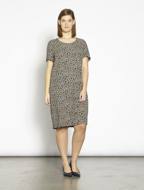 Lightweight printed cady dress