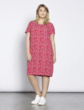 Lightweight printed cady dress
