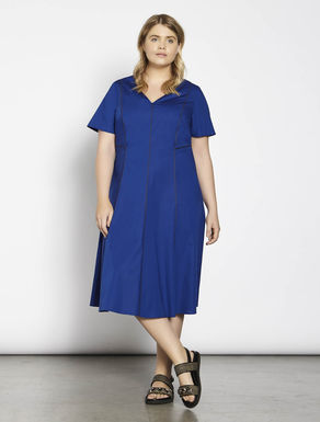 A-line cotton poplin dress