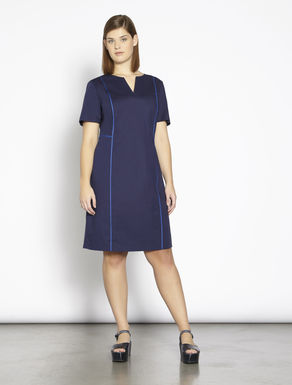 Stretch poplin tube dress