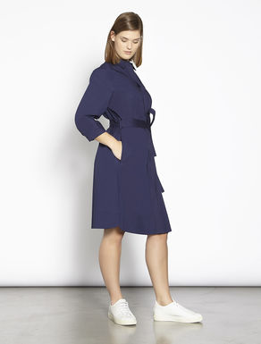 Cotton poplin shirt-dress