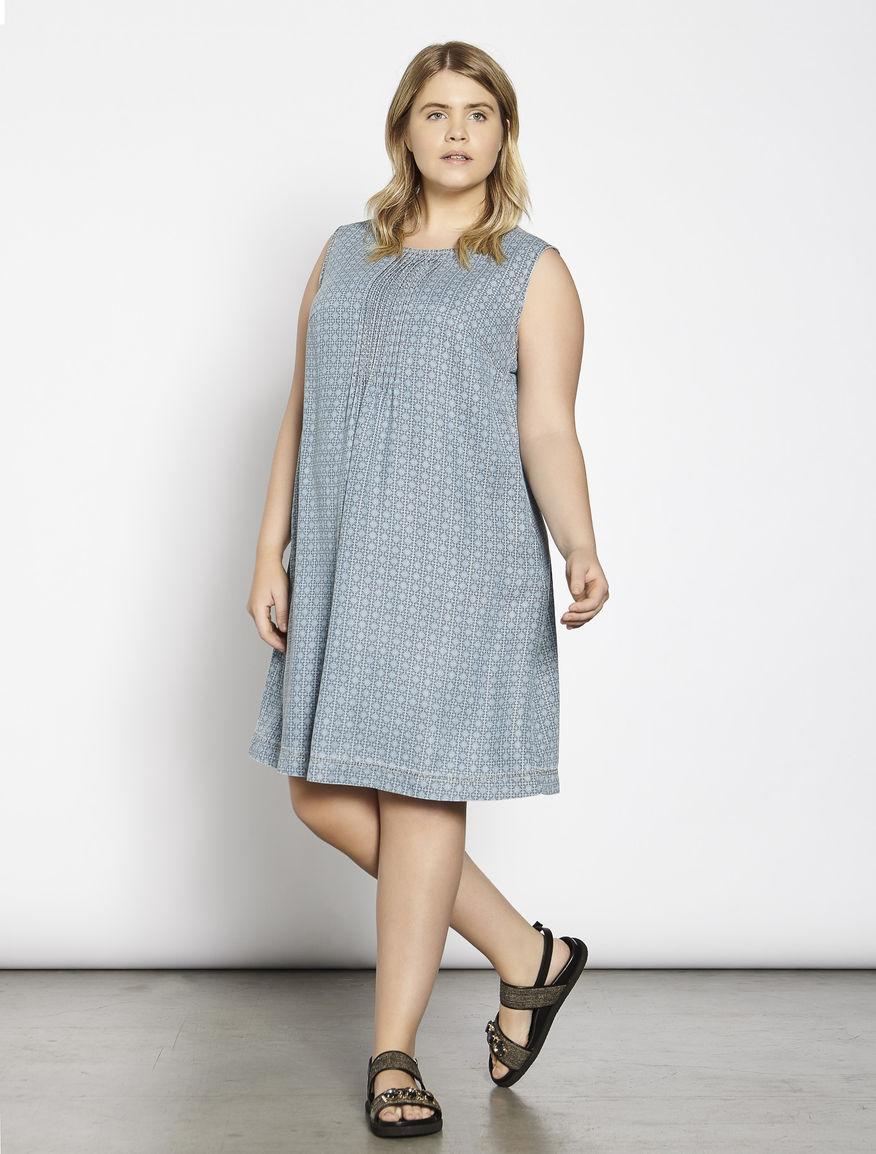 Patterned tencel dress