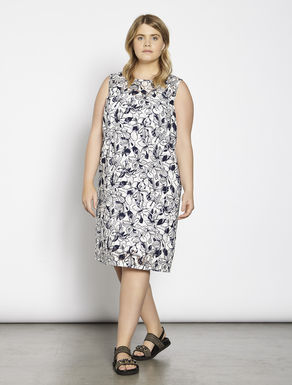 Printed dévoré dress