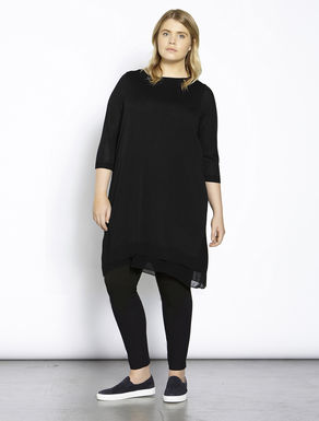Knitted layered georgette dress