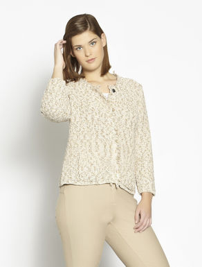 Slub cotton cardigan