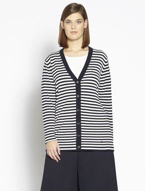 Stretch viscose cardigan