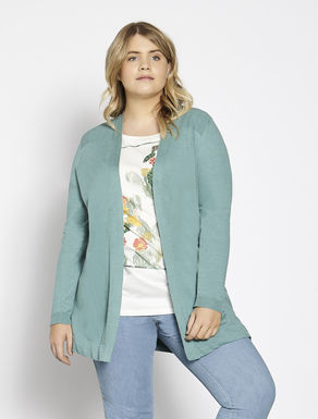 Long cotton and linen cardigan