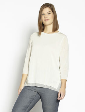 Fluid viscose and georgette sweater
