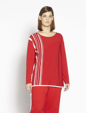 Floaty stretch viscose sweater