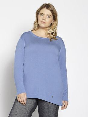 Langer Pullover aus Viskose-Stretch