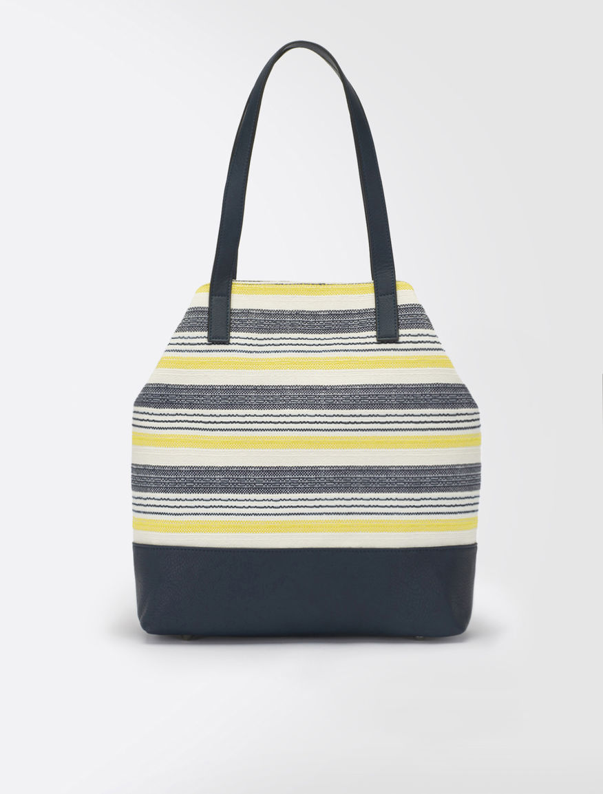 Striped shopping bag