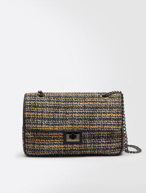 Bouclé shoulder bag