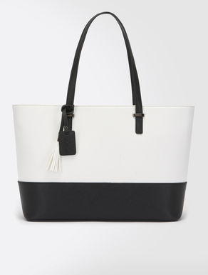 Two-tone shopping bag