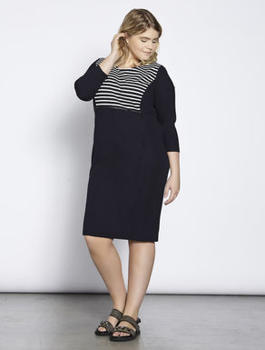 Milano-stitch jersey dress