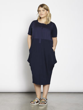 Jersey and cotton dress