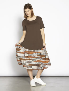 Long jersey and cotton dress