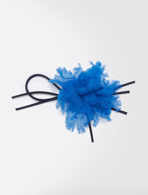 Flower brooch in silk organza