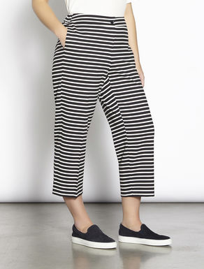 Cropped jersey trousers