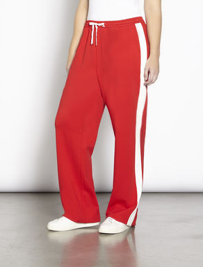 Wide-cut jersey trousers