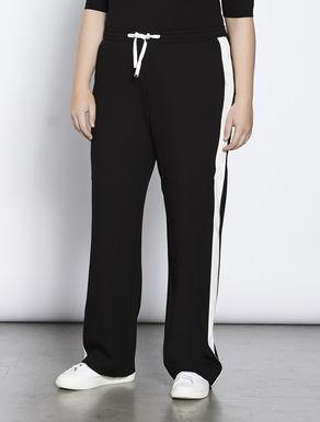 Wide-cut jersey trousers