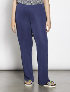 Relaxed-fit shiny jersey trousers