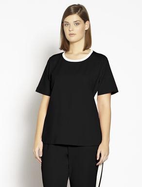 Jersey-T-Shirt mit Reißverschluss
