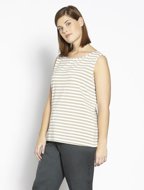 Striped stretch jersey top
